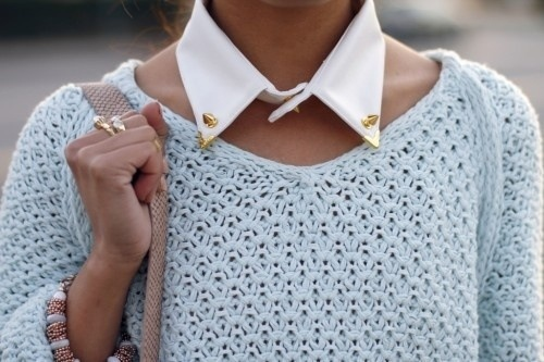 Gold stud collar