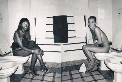 Kate Moss Naomi Campbell Toilet