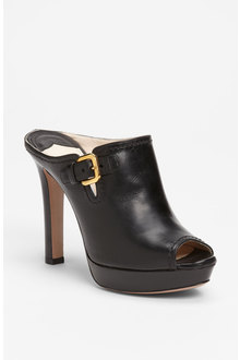 prada-black-buckle-peep-toe-mule