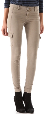 vince-brown-cargo-pocket-skinny-pants