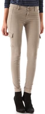 vince-brown-cargo-pocket-skinny-pants