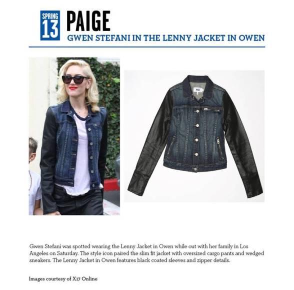 Gwen Stefani wears Paige