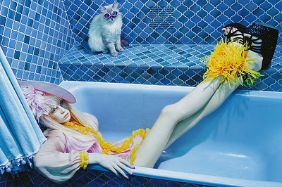 Siri Trollerod Photographer- Miles Aldridge for Italian Vogue