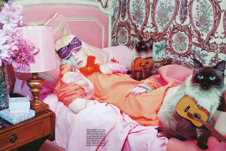 Miles Aldridge Siri Tollerod_Vogue_Italia_May_2008_The_Vagaries_of_Fashion_Cat_Story_009