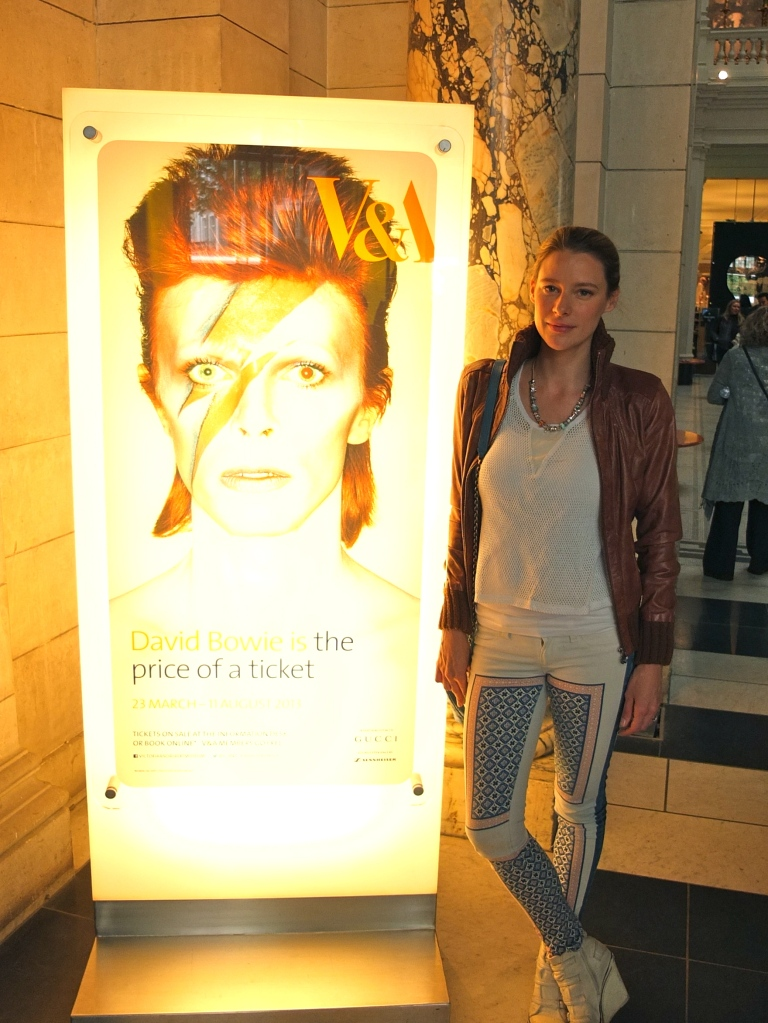 Jocette at David Bowie Is