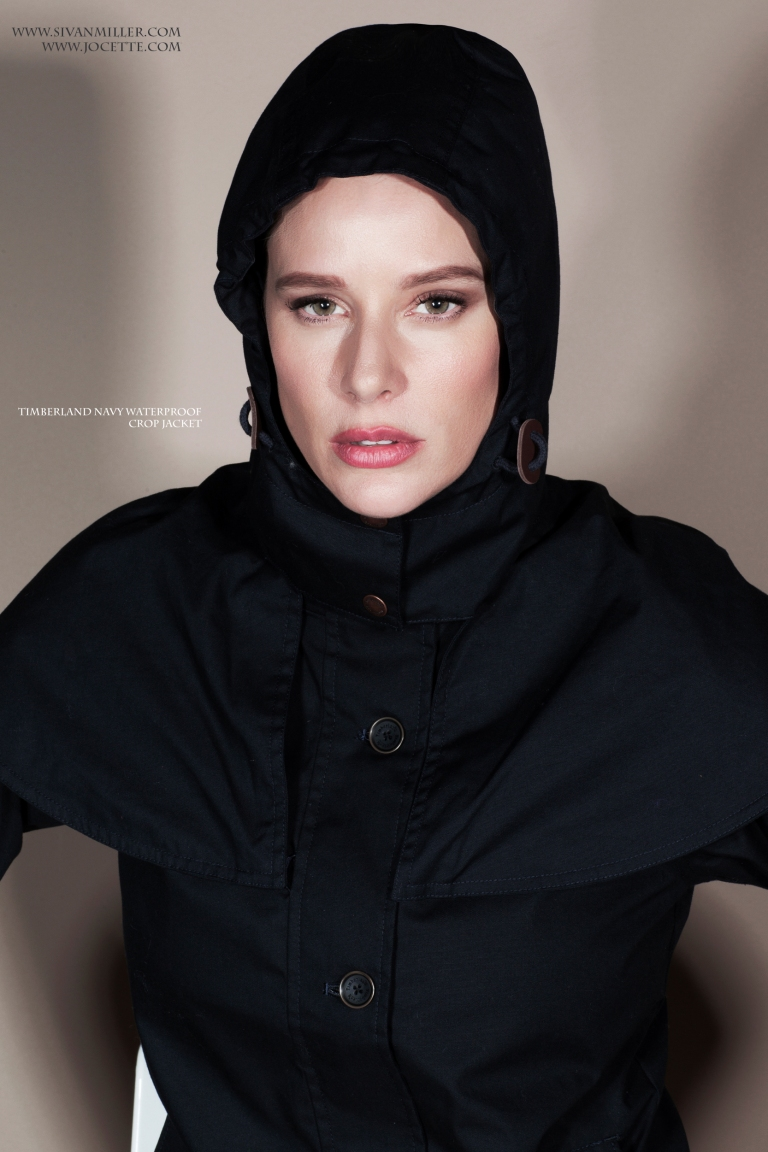 Jocette Coote wears TIMBERLAND Waterproof Crop Jacket