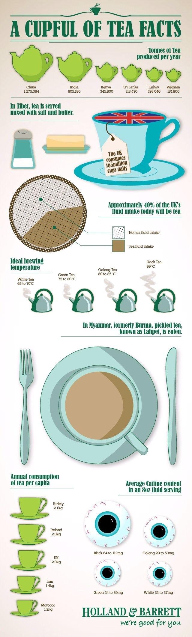 facts about tea The model life Jocette