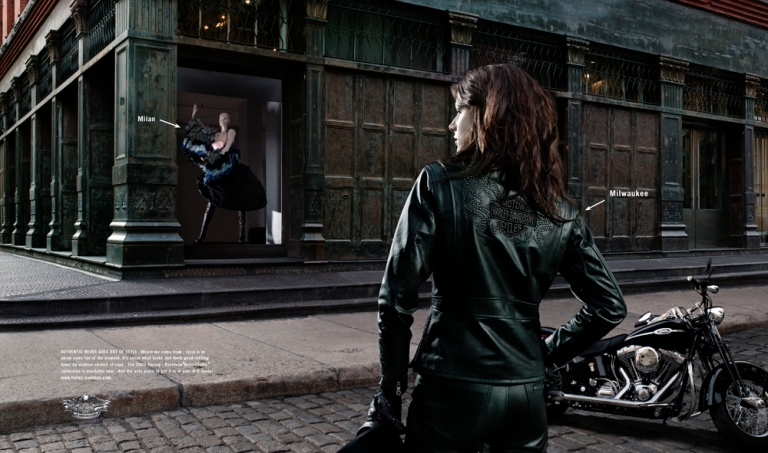 #ThrowbackThursday #Jocette for #HarleyDavidson in #NY